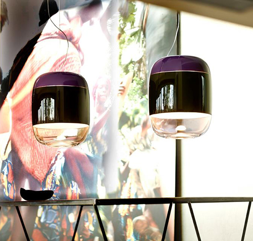 blown glass pendant lamps prandina 2 Blown Glass Pendant Lamps by Prandina