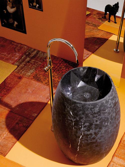free standing marble washbasin ypsilon gem 1 Contemporary Free Standing Marble Washbasinby Ypsilon
