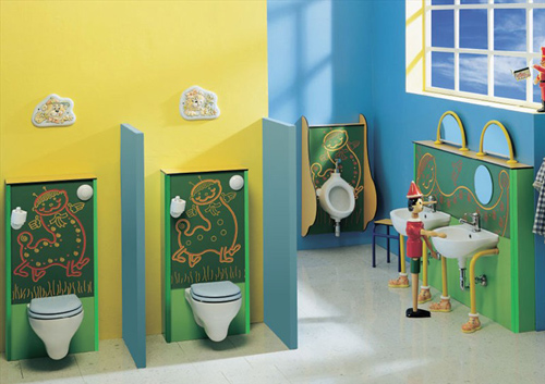 View In Gallery Cute Kids Bathroom Ideas Ponte Giulio 4