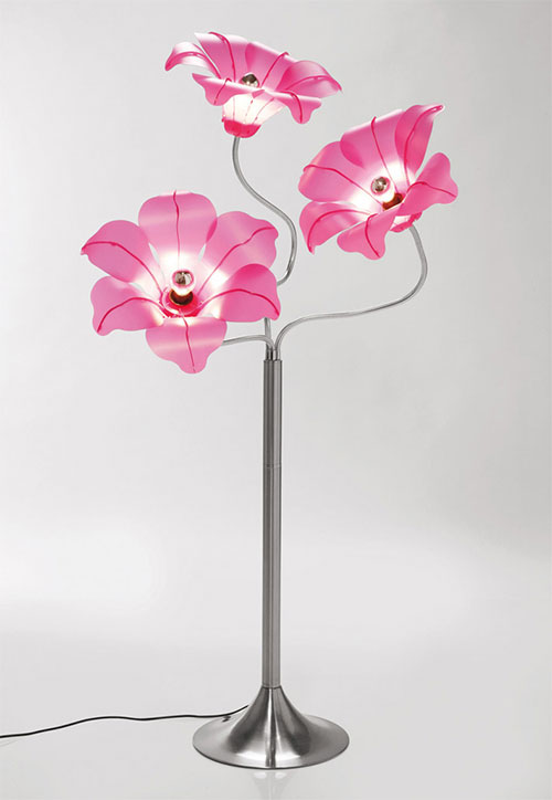 Swing Arm Table Lamp By Kare Design Flower Shade