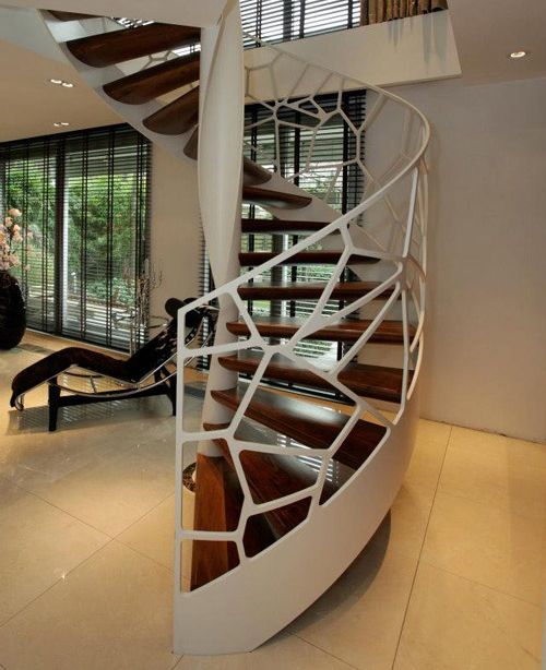 Unique And Creative Staircase Designs For Modern Homes: Creative Balustrade Cells By EeStairs