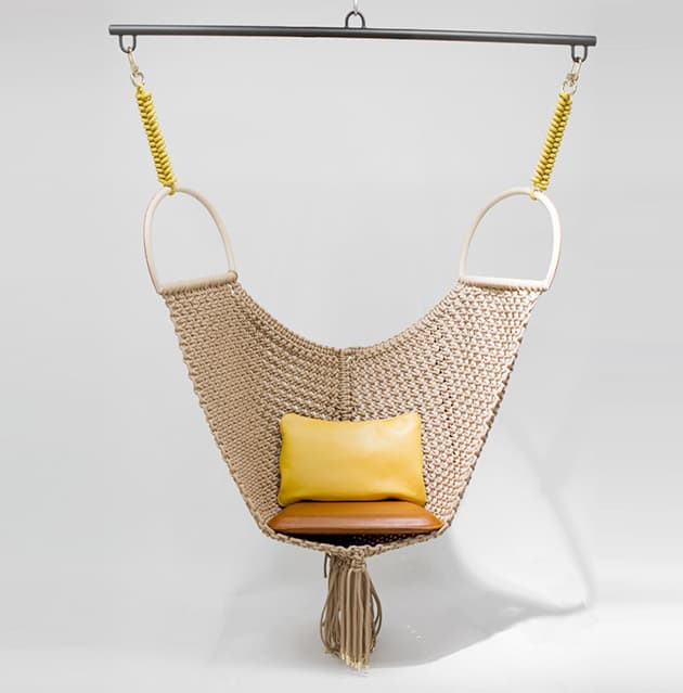 patricia urquiola swing chair for louis vuitton objets nomades Patricia Urquiolas Swing Chair for Louis Vuitton Objets Nomades