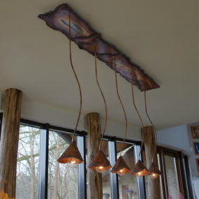Beautiful Rustic Copper Lighting by Dutch Designer Willem Simonis