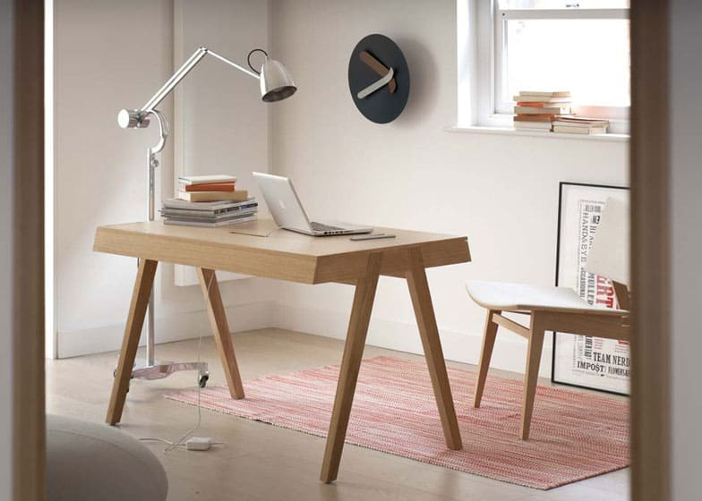 design chameleon office desk is both mid century and modern