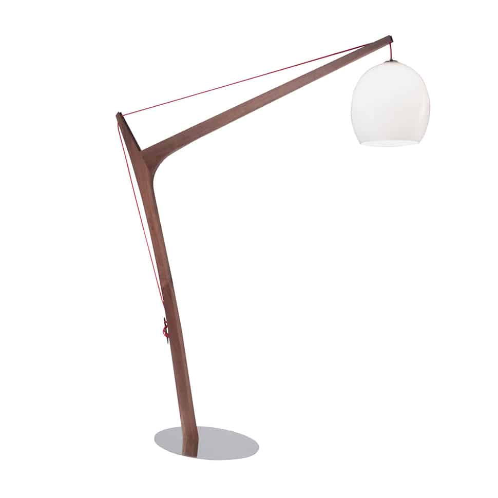 View In Gallery Accastillage Wooden Floor Lamp Roche Bobois White 4