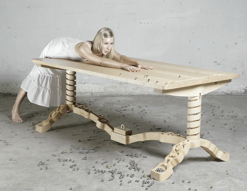 Table with Marble Track by Ontwerpduo