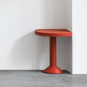Red Corner Table by Schellmann