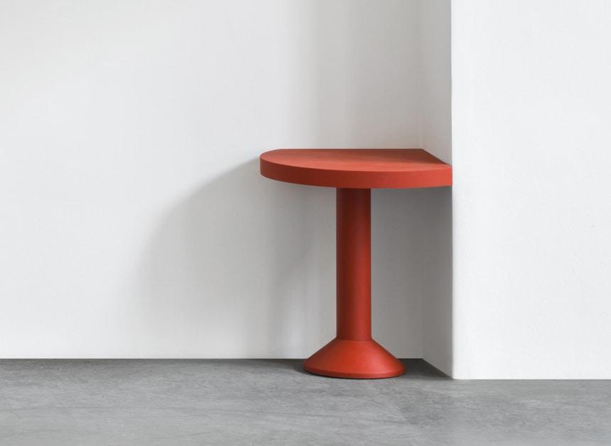 Red Corner Table By Schellmann
