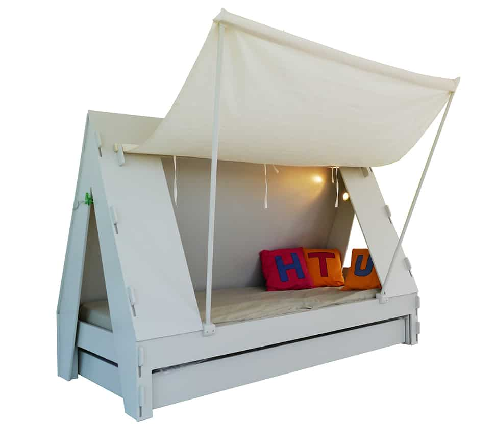 View In Gallery Trundle Bed Children Creatively Closes Private Tent With
