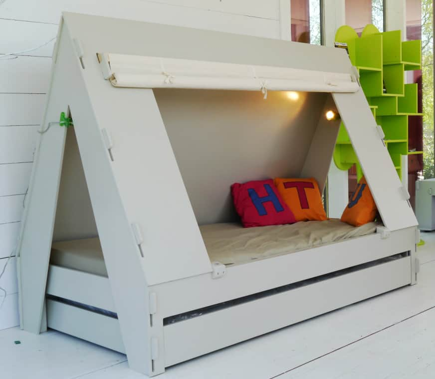 View in gallery trundle-bed-children-creatively-closes-private-tent-with- & Trundle Bed for Children Creatively Closes into Private Tent with ...