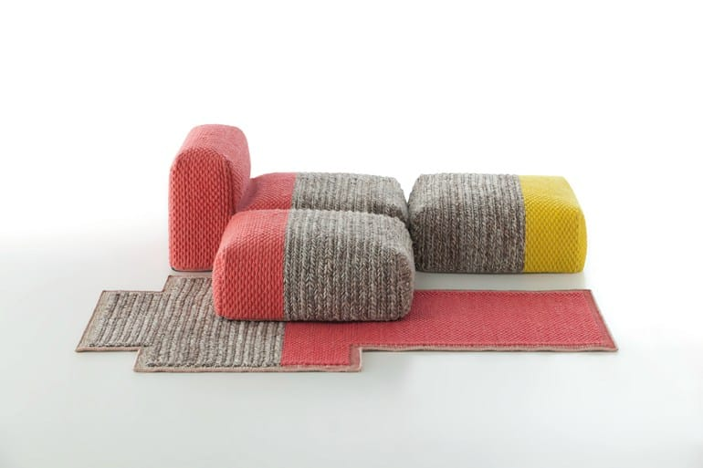 View In Gallery Wool Furniture  Gan Mangas Spaces Collection Patricia Urquiola
