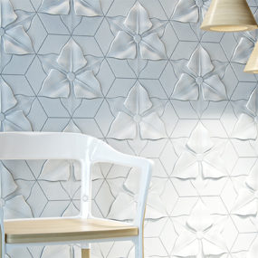 Textured Concrete Tiles with Relief Motifs