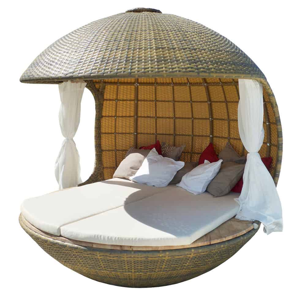 cocoon beach offers stylish outdoor lounging rh trendir com Cocoon Couch cocoon outdoor chair