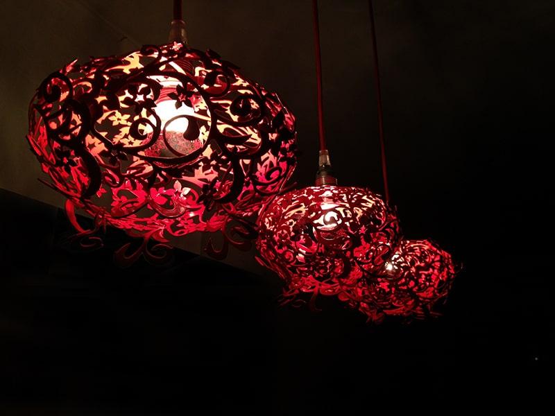Laser Cut Metal Pendants Fire Lily By Amichai Oron