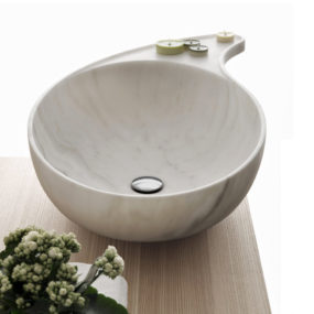 Marble Bowl Sink with Soap Holder by Kreoo