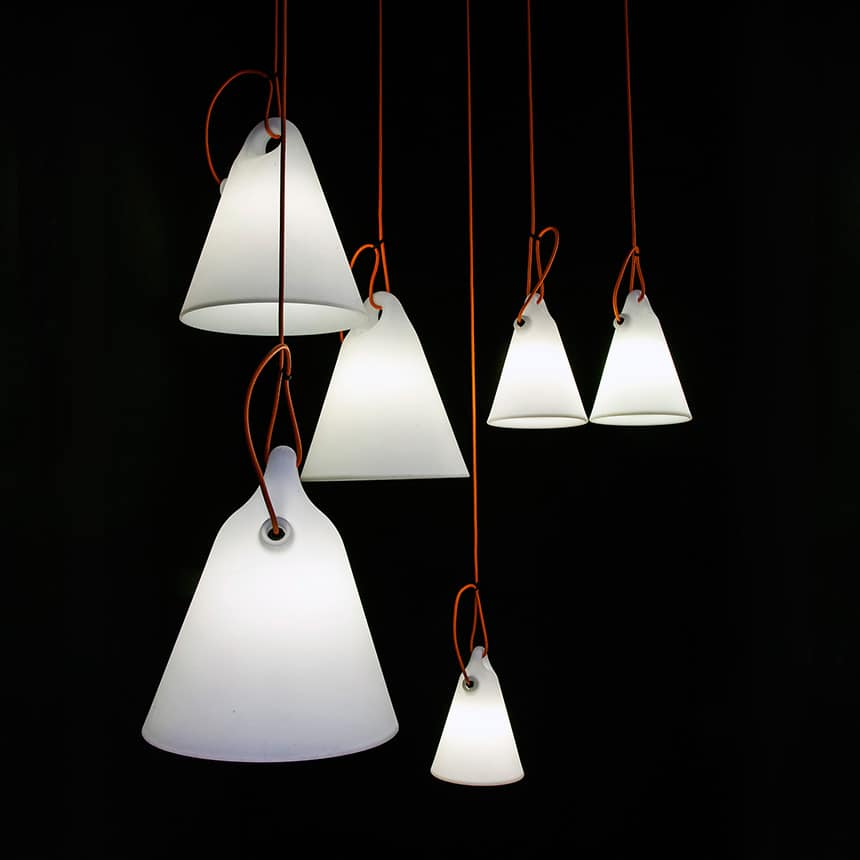 & Simple Outdoor Floor or Hanging Lamps by Martinelli