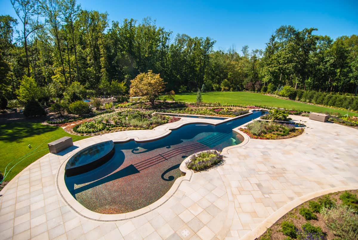 Custom swimming pool by cipriano landscape design beyond for Natural pool design