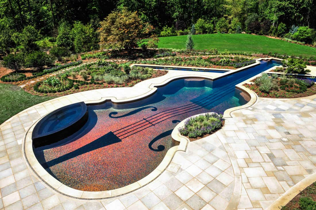 Swimming pool garden design  Custom Swimming Pool by Cipriano Landscape Design: beyond amazing!