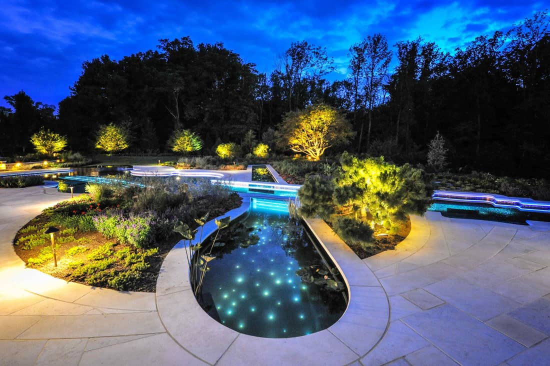 ingenious landscape lighting around pool. View in gallery award winning stradivarius violin pool cipriano landscape  design Custom Swimming Pool by Cipriano Landscape Design beyond amazing