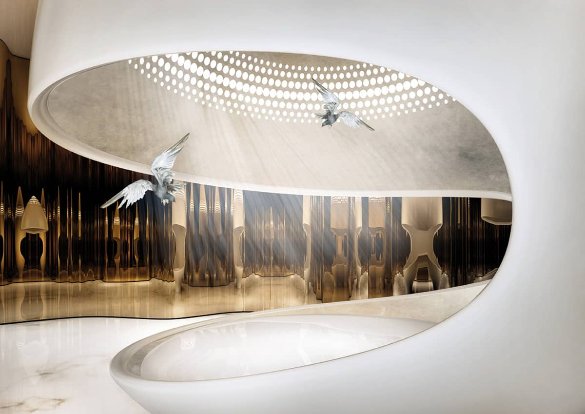 Ippolito Fleitz luxuriously decadent cleopatra bathtub by ippolito fleitz