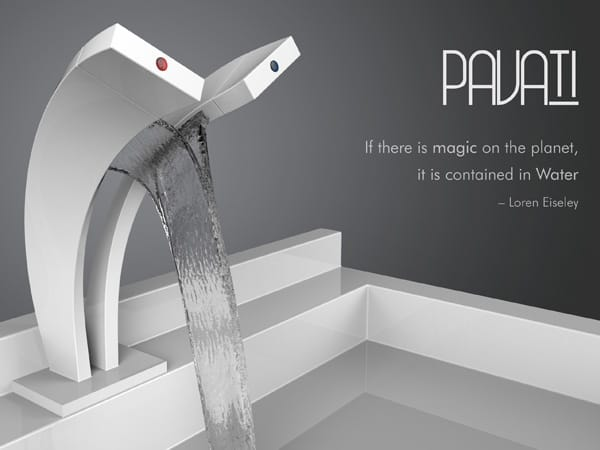 Great Pavati Dual Stream Waterfall Faucet