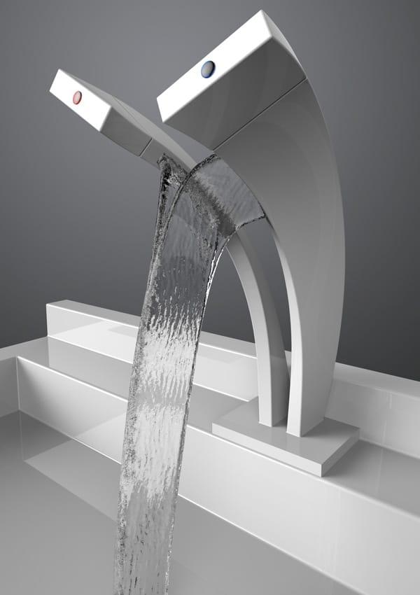 pavati dual stream waterfall faucet 2 Pavati Dual Stream Waterfall Faucet