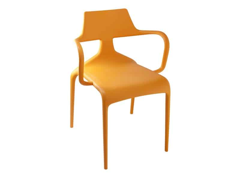 View In Gallery Colourfully Dynamic Stackable Shark Chairs Green 7 Orange.