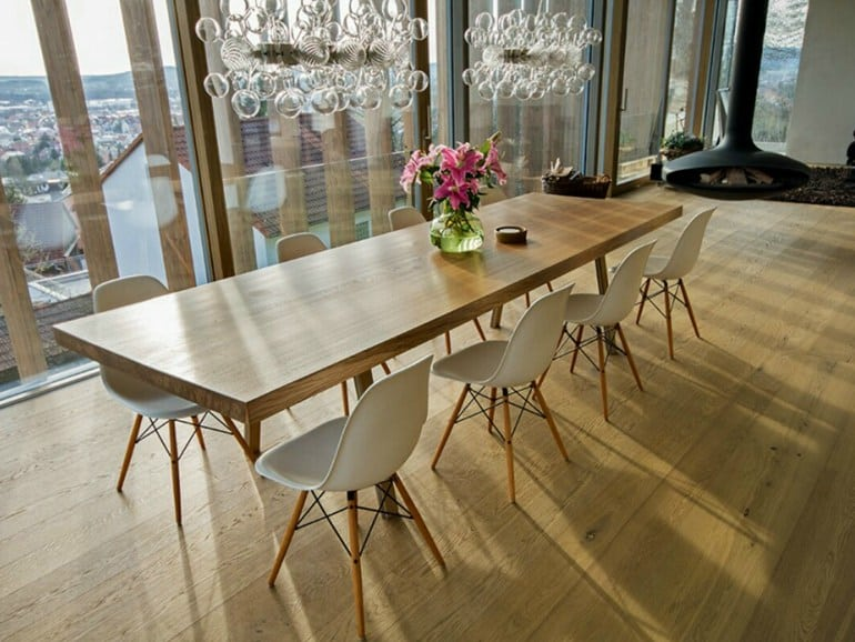 Stunning Table From 350 Year Old Oak By Braun And Braun