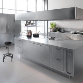 Sleek and Sumptuous Stainless Steel Kitchen by Abimis