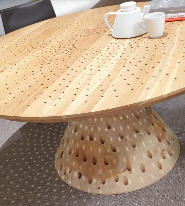 Colino Round Table from Riva Creates Light Show