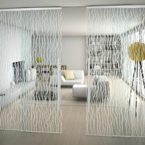 Suspended Art Glass Doors: Sinthesy by FOA
