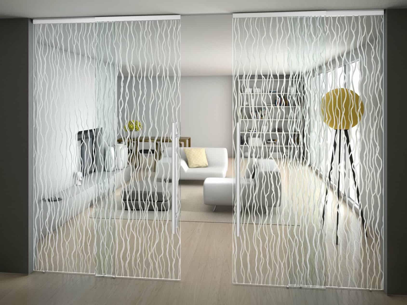 Suspended Art Glass Doors: Sinthesy by FOA