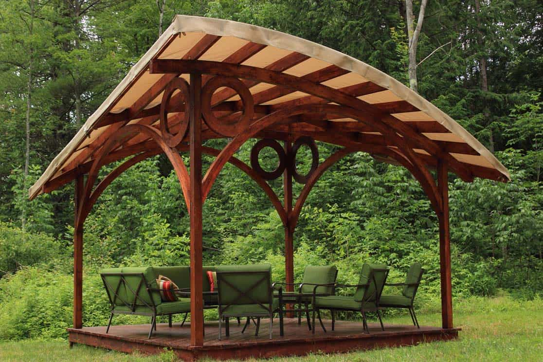 Gorgeous gazebos for shade tastic outdoor living by garden arc for Garden wood designs
