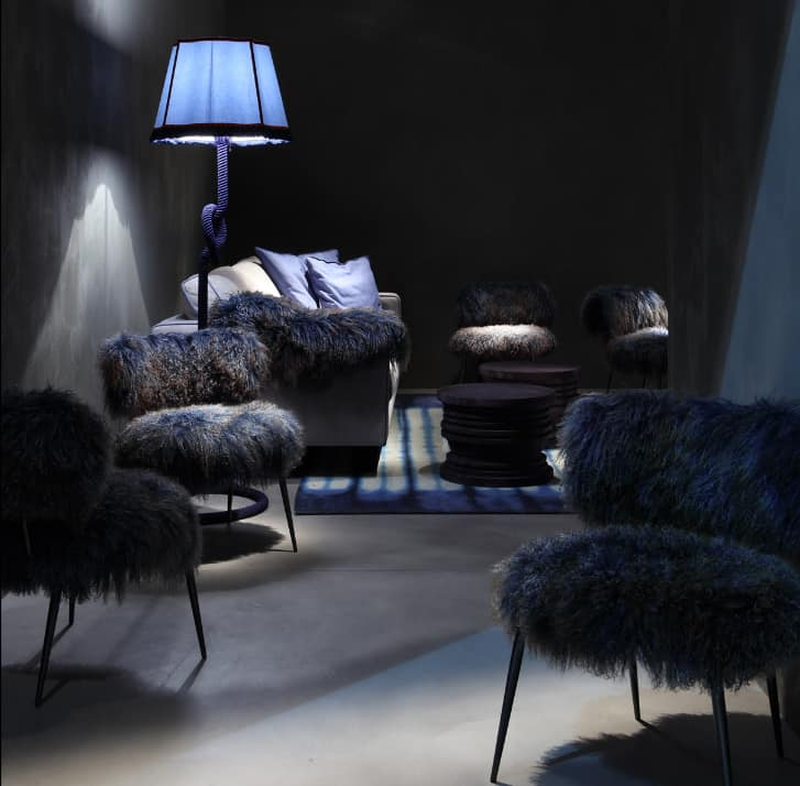 faux fur furniture from baxter by paola navone nepal. Black Bedroom Furniture Sets. Home Design Ideas