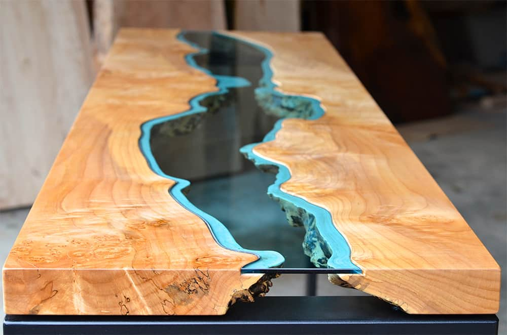 a river runs through greg klassen living edge tables. Black Bedroom Furniture Sets. Home Design Ideas