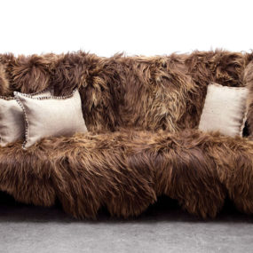 Long Wool Icelandic Sheepskin Furniture by Sentient