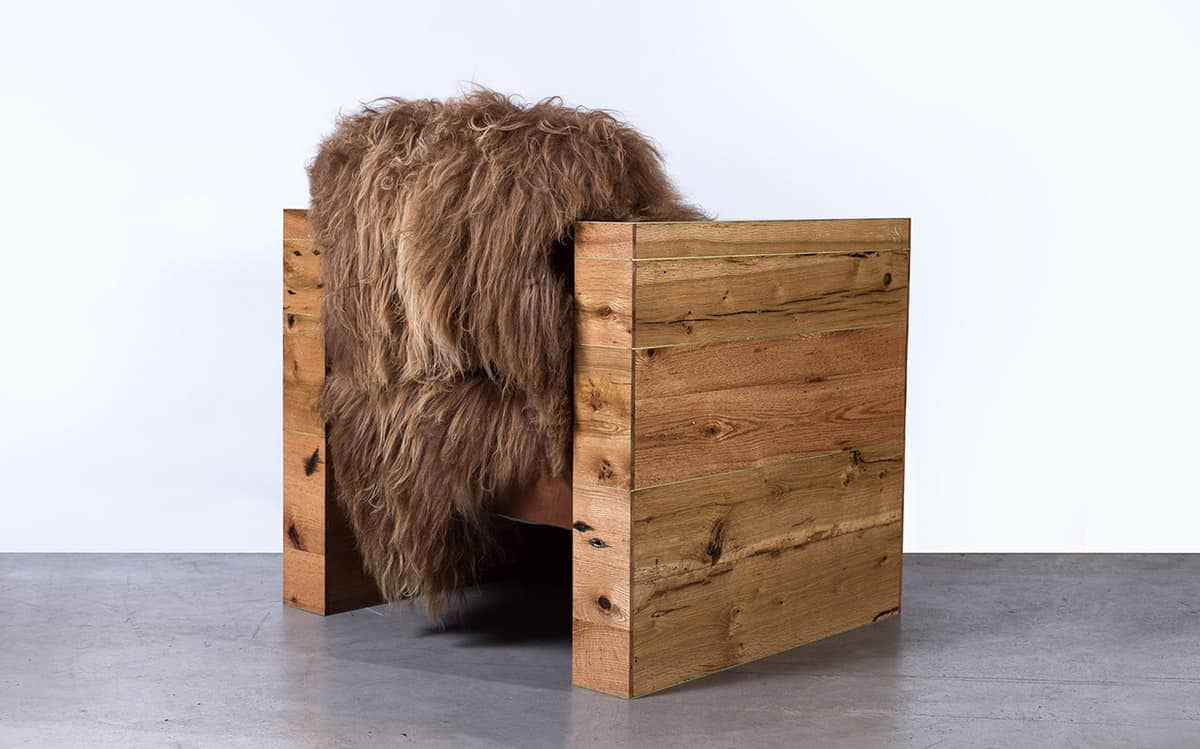 Long Wool Icelandic Sheepskin Furniture By Sentient. Rustikales Designer  Sofa Mit Schafsfell ...