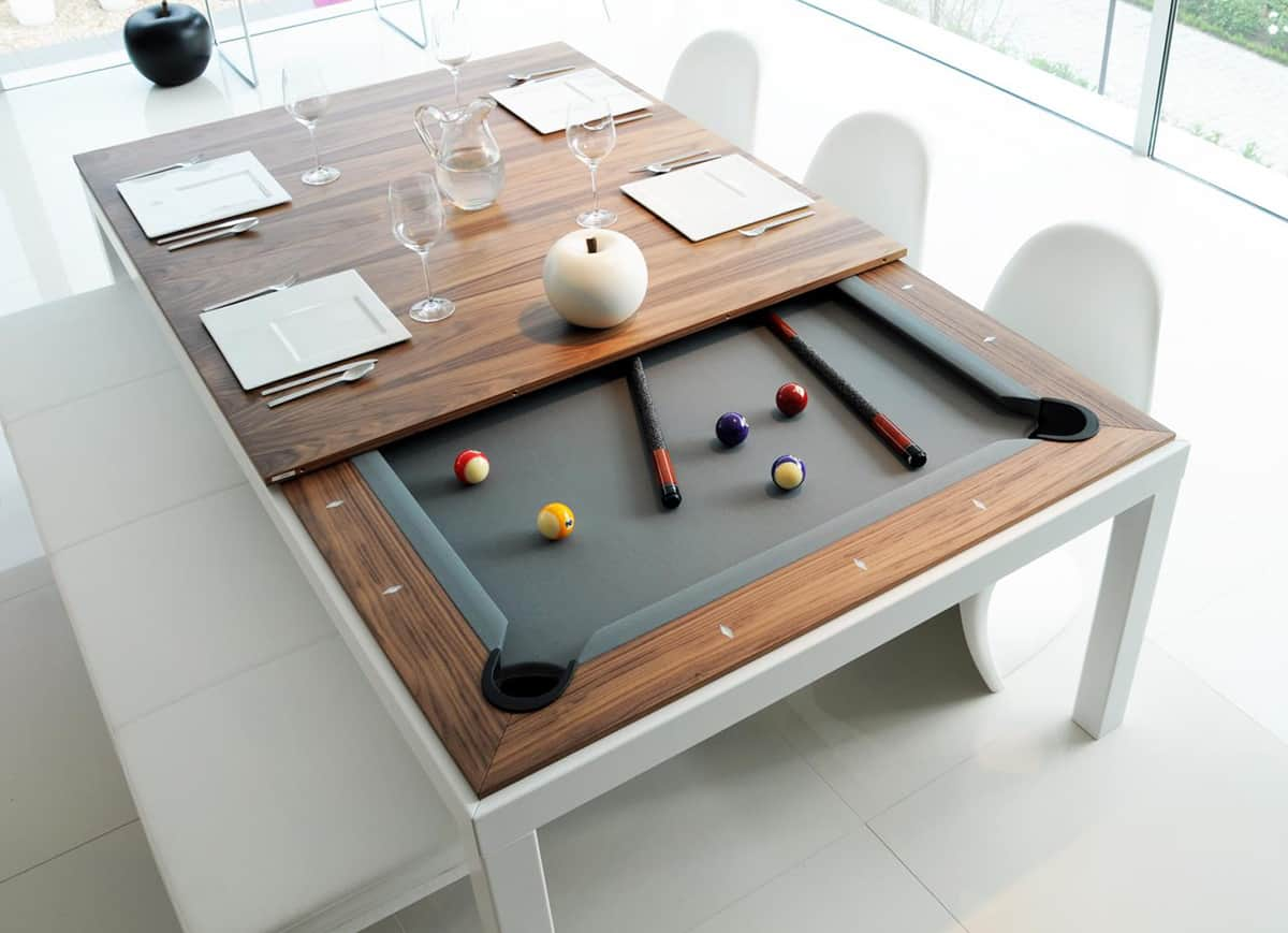 Dining and pool table combination fusion tables