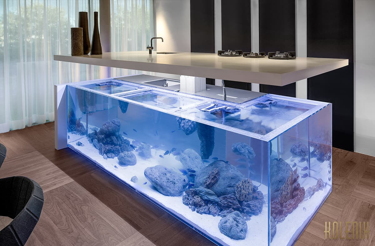 Sensational Ocean Kitchen and Aquarium by Robert Kolenik