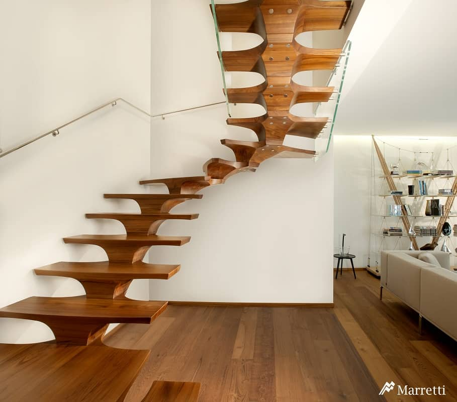 Self-Bearing Concorde Staircase by Marretti is Functional Art