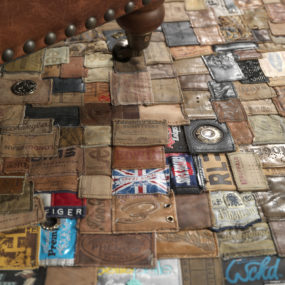 Jeans Label Rug by Kings of Sweden is Upcycled Awesomeness