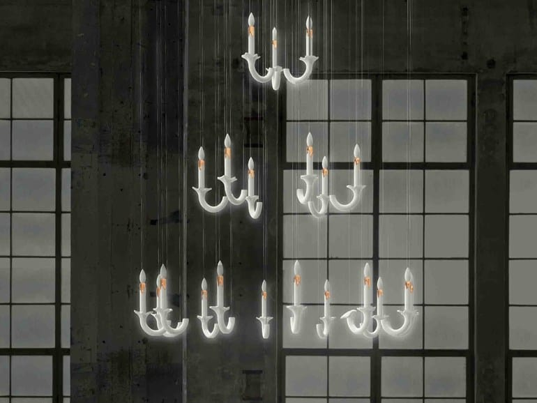 Wersailles by Beau&Bien is an Elegant and Ethereal Chandelier