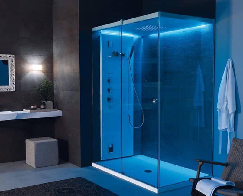 Light by Tueco is a Completely Enclosed Shower Stall