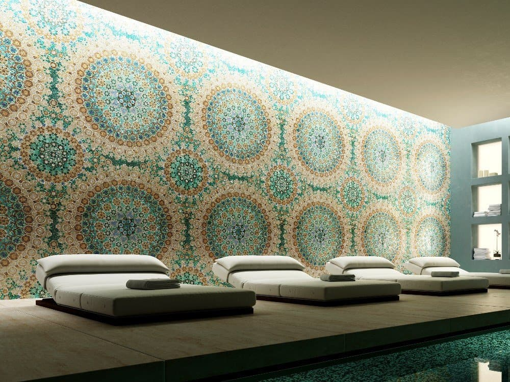 pictorial glass tile mosaics by trend the newest thing in walls - Glass Tile Living Room 2015