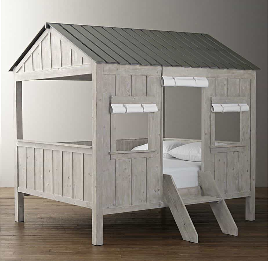 Kids Cabin Bed By Restoration Hardware on Simple Log Cabin Floor Plans