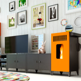 Modular Pellet Stove Furniture MIA by Olimpia Splendid