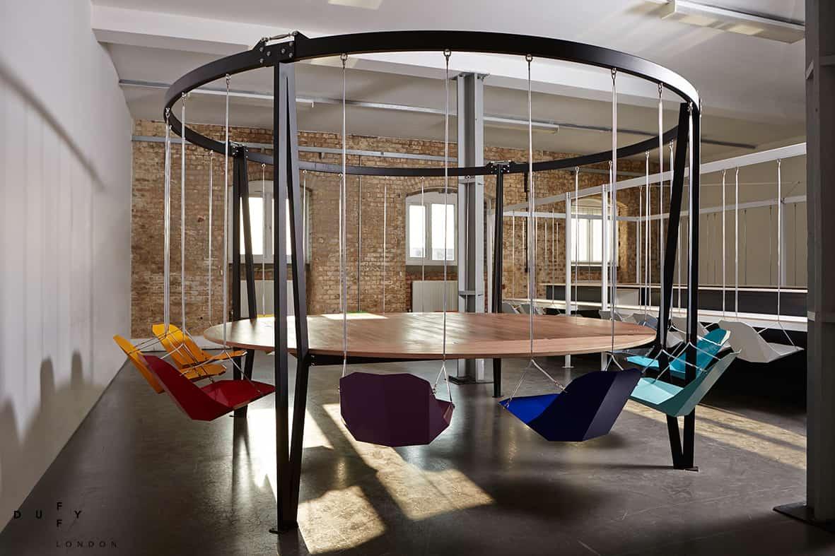 Delightful Round Swing Table King Arthur By Duffy London