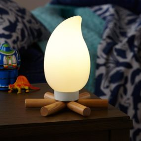 Campsite Nightlight Brings Bonfire to Kid's Room