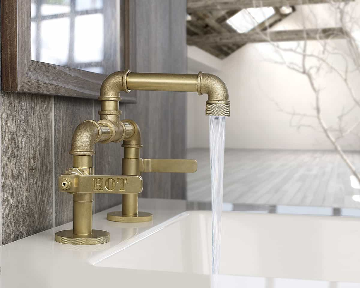 industrial style bathroom fixtures industrial style faucets by watermark to give your 18891