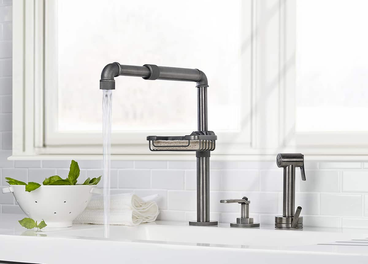 Industrial bathroom fixtures - View In Gallery Watermark Elan Vital Monoblock Kitchen Faucet 6 Jpg